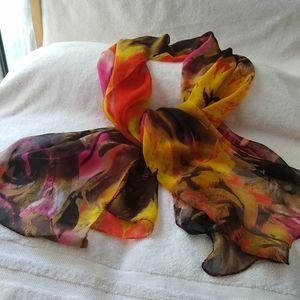 Cynthia Rowley colorful scarf.